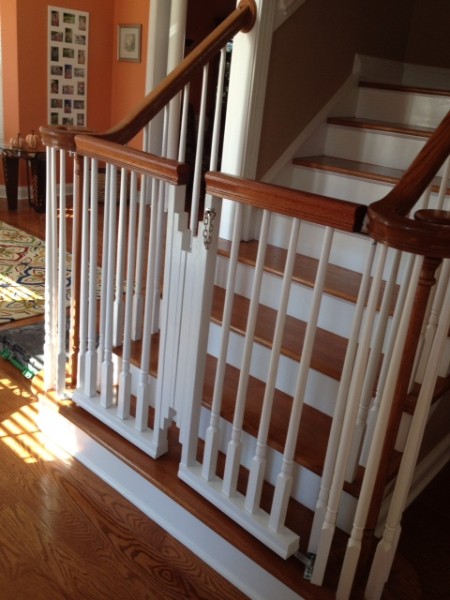 this homeowner contracted concierge home solutions to design and install custom baby gates