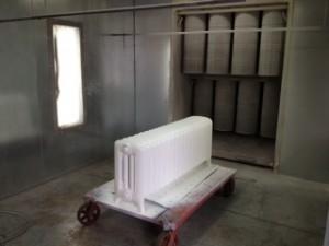 Radiator during Powder Coating